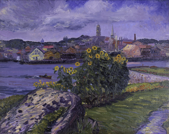 John Sloan, Sunflowers at Rocky Neck, 1914, oil on canvas (Cape Ann Museum, Gloucester, MA)