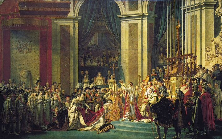 Jacques-Louis David, The Coronation of Napoleon, 1805-07, oil on canvas, 621 x 979 cm (Louvre)
