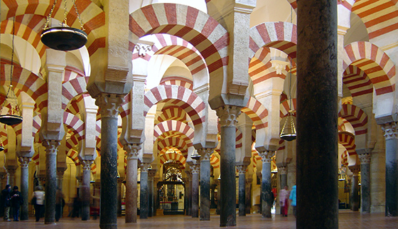 Interior of the Great Mosque of Cordoba, Spain, 8th-10th centuries (photo: Timor Espallargas, CC BY-SA 2.5)