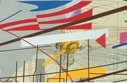 """Julie Mehretu, detail, Stadia II, 2004, ink and acrylic on canvas, 108 x 144"""" (Carnegie Museum of Art, Pittsburgh) (© Julie Mehretu)"""