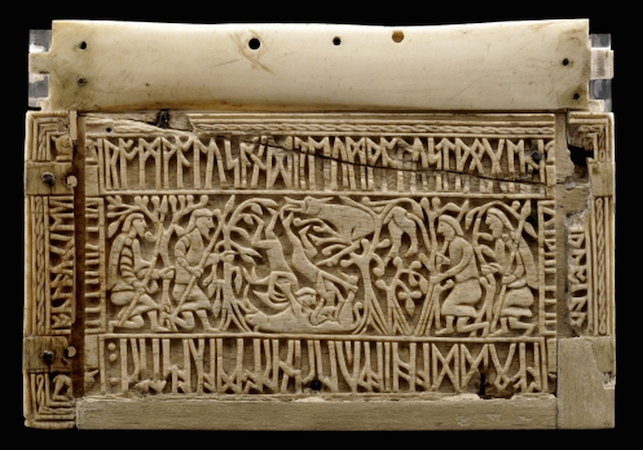 Left-hand side, The Franks Casket, c. 700, whalebone, 22.9 x 19 x 10.9 cm, Anglo-Saxon, Northumbria, England, © Trustees of the British Museum