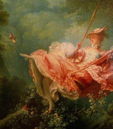 Female figure (detail), Jean-Honoré Fragonard, The Swing, 1767, oil on canvas, 81 x 64.2 cm (Wallace Collection, London)