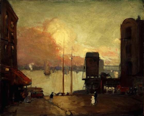 Robert Henri,Cumulus Clouds, East River,1901-1902, ol on canvas,25 3/4 x 32 in. /65.4 x 81.3 cm. (Smithsonian American Art Museum, Washington D.C.)