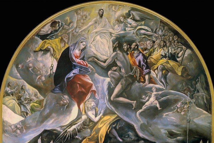 Heaven (detail), El Greco, Burial of the Count of Orgaz, 1586–88 (Santo Tomé, Toledo, Spain), oil on canvas, 480 x 360 cm