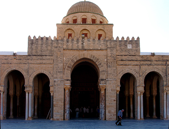 Great Mosque of Kairouan prayer hall facade (photo: Damian Entwistle, CC BY-SA 2.0)