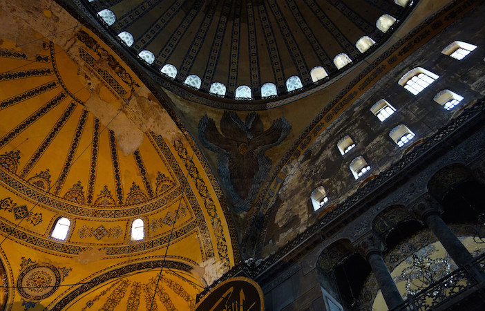 Hagia Sophia Dome, Semi-Dome and Cherubim in the pendentive (photo: Steven Zucker, CC BY-NC-SA 2.0)