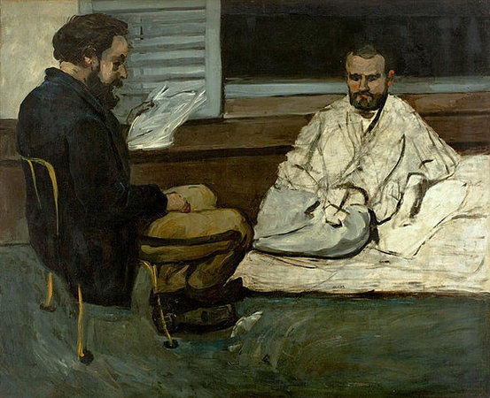 Paul Cézanne, Paul Alexis reading to Émile Zola, 1869-1870, oil on canvas ( São Paulo Museum of Art)
