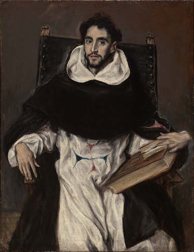 El Greco, Fray Hortensio Félix Paravicino, 1609, oil on canvas, 112.1 x 86.1 cm (The Museum of Fine Arts, Boston)