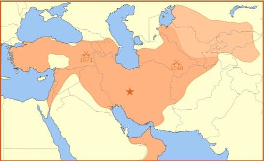 The Saljuq Empire in 1092
