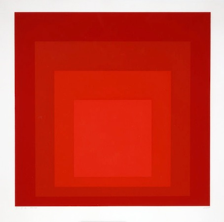 Josef Albers, Homage to the Square I-Sa, 1968, silkscreen, 54.6 × 54.6 cm (Dallas Museum of Art)