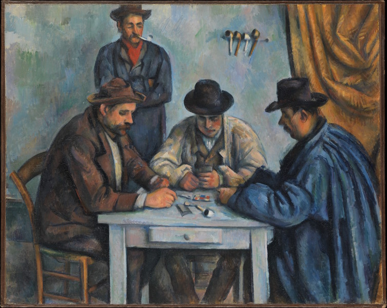 Paul Cézanne, The Card Players, 1890-92, oil on canvas, 65.4 x 81.9 cm (The Metropolitan Museum of Art)
