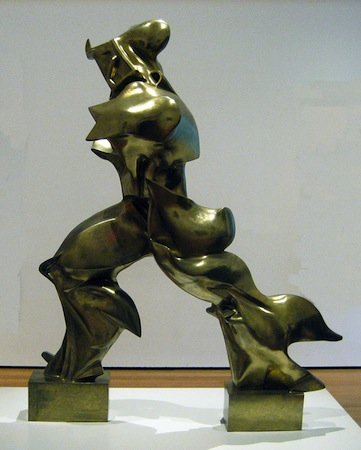 Umberto Boccioni, Unique Forms of Continuity in Space, 1913 (cast 1931), bronze, 111.2 x 88.5 x 40 cm (The Museum of Modern Art, New York)