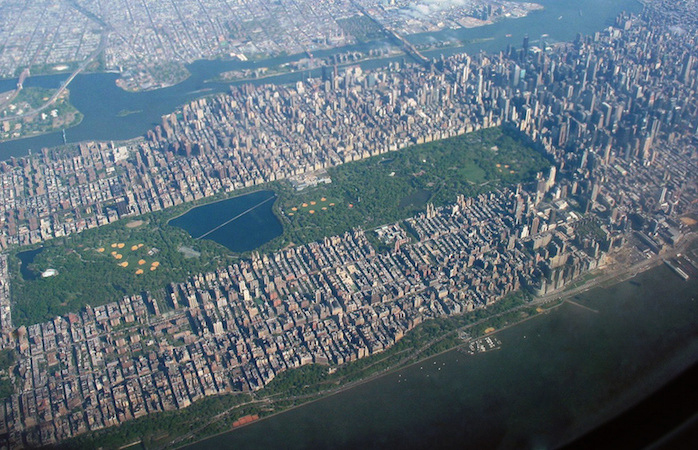 Aerial view of Central Park, New York City (photo: © Ester Inbar)