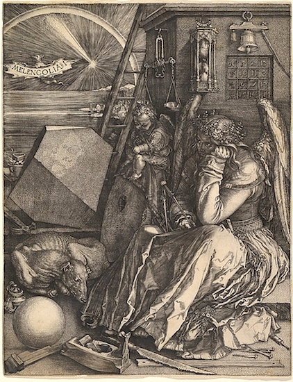 Albrecht Dürer,Melencolia I,1514, engraving, 24 x 18.5 cm (The Metropolitan Museum of Art)