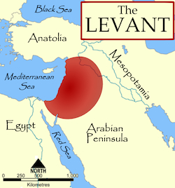 Map of Europe showing the Levant