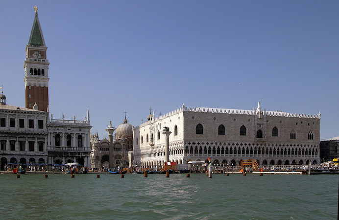Saint Mark's Square and the Doge's Palace seen from the water, Venice, photo: Steven Zucker