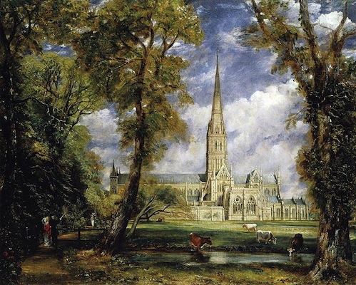 John Constable, Salisbury Cathedral from the Bishop's Garden, 1826, oil on canvas, 88.9 x 112.4 cm (Frick Collection, New York)