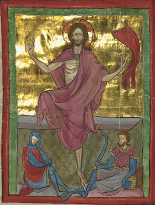 Homilary, The Resurrection, Walters Manuscript W.148, fol. 23v (The Walters Art Museum)