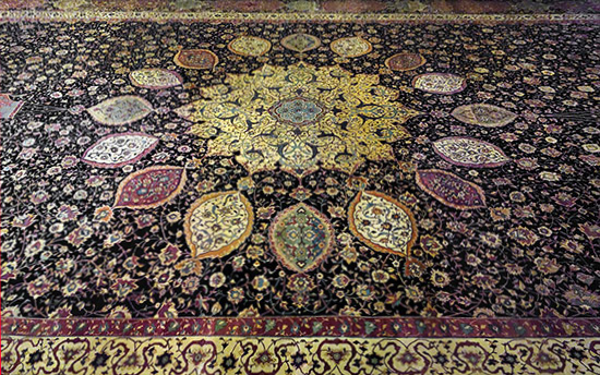 Ardabil Carpet, detail