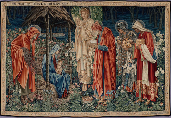 Edward Burne-Jones, The Adoration of the Magi, 1904, tapestry, 101.57 x 148.42 inches (Musée d'Orsay)
