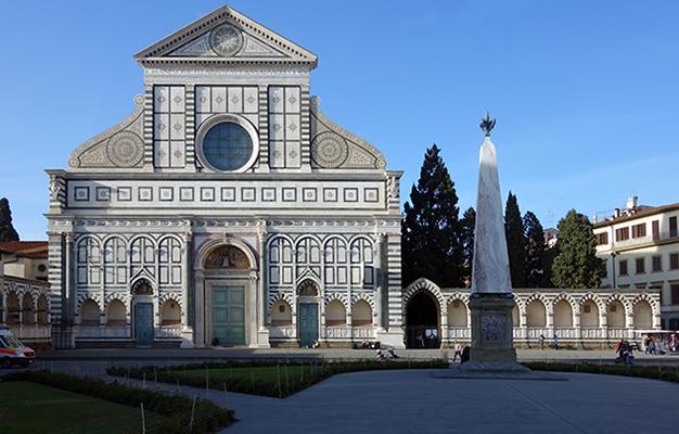 Santa Maria Novella (Leon Battista Alberti was responsible for the façade, completed in 1470)