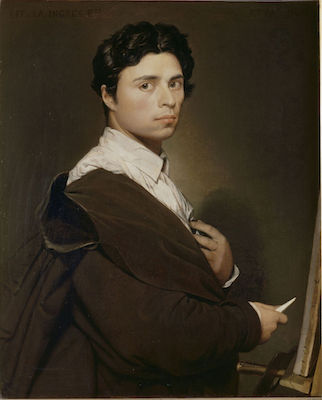 Jean-Auguste-Dominique Ingres, Self-Portrait at age 24, oil on canvas, 61 x 77 cm (Château de Chantilly)