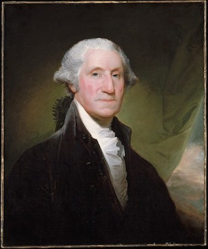 Gilbert Stuart, George Washington, begun 1795, oil on canvas, 76.8 x 64.1 cm (The Metropolitan Museum of Art)