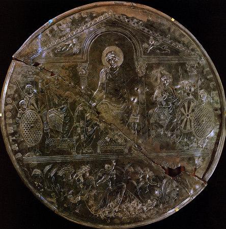 Missorium of Theodosius, 388 C.E. (Academia de la Historia, Madrid)