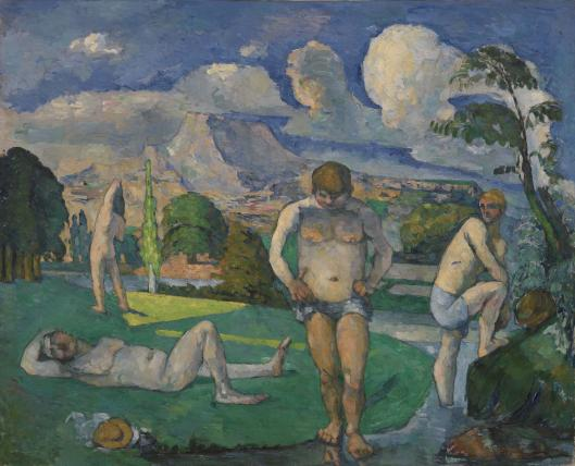 Paul Cézanne, Bathers at Rest, 1876-77, oil on canvas, 82 x 101 cm (The Barnes Foundation, Philadelphia)
