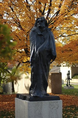 Auguste Rodin, Monument to Balzac, bronze, 1891-97 (Musée Rodin, Paris) (photo: Jeff Kubina, CC BY-SA 2.0)