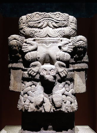 Coatlicue, c. 1500, Mexica (Aztec), found on the SE edge of the Plaza mayor/Zocalo in Mexico City, basalt, 257 cm high (National Museum of Anthropology, Mexico City), photo: Steven Zucker (CC BY-NC-SA 2.0)