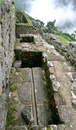 Stone channel drain, Machu Picchu, Peru, c. 1450–1540 (photo: Eduardo Zárate, CC BY-ND 2.0)