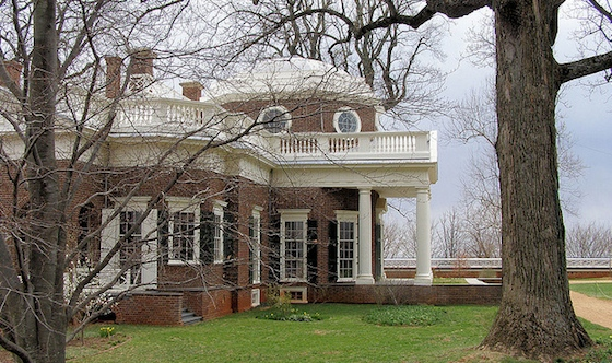 Thomas Jefferson, Monticello (view from the north), Charlottesville, Virginia, 1770-1806 (Photo: Virginia Hill, CC BY-ND 2.0)