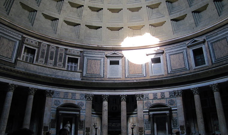 Interior view, The Pantheon, c. 125 C.E., Rome