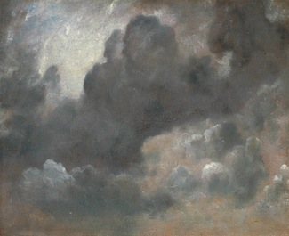 John Constable, Cloud Study, 1822, oil on paper laid on board, 47.6 x 57.5 cm (Tate Britain)