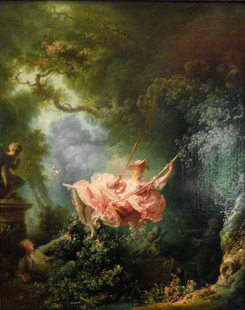 Jean-Honoré Fragonard, The Swing, 1767, oil on canvas, 81 x 64.2 cm (Wallace Collection, London)