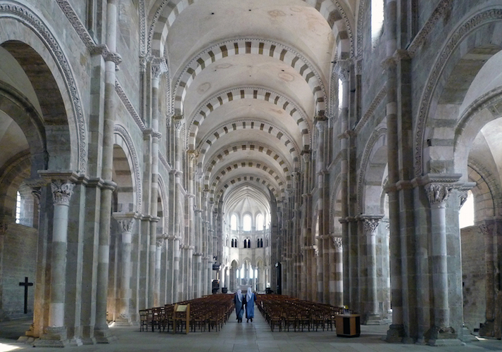 Basilica Ste-Madeleine, Vézelay, France, dedicated 1104