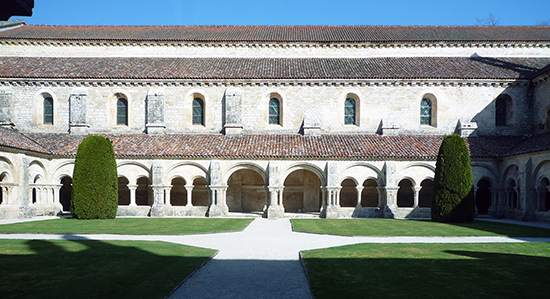 Fontenay Abbey seen from the cloister
