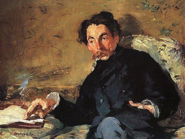 Édouard Manet, Stéphan Mallarmé, 1876, oil on canvas, 27.5 x 36cm (Musée d'Orsay)