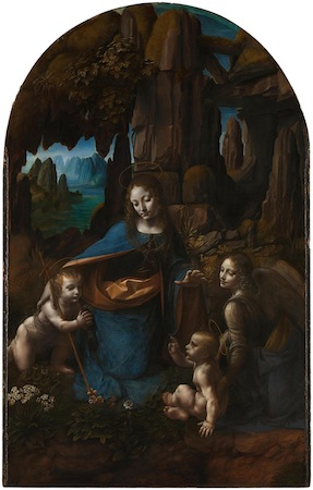 Leonardo da Vinci, The Virgin of the Rocks, c. 1491-1508, oil on panel, 189.5 x 120 cm, (National Gallery, London)