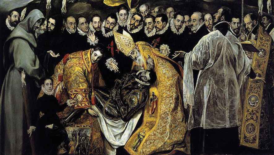 Earthly scene (detail), El Greco, Burial of the Count of Orgaz, 1586–88, oil on canvas, 480 x 360 cm (Santo Tomé, Toledo, Spain)