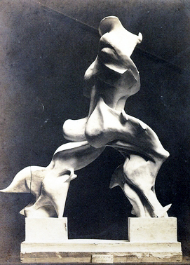 Umberto Boccioni, Unique Forms of Continuity in Space, 1913, plaster (Museu de Arte Contemporânea in São Paulo)