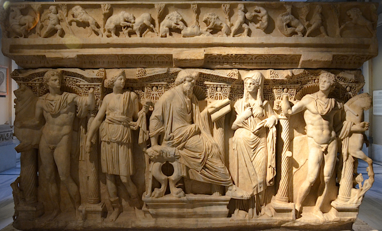 Asiatic sarcophagus from Sidamara, c. 250 C.E. (Istanbul Archaeological Museum, Istanbul) (photo: Richard Mortel, CC BY-NC 2.0)