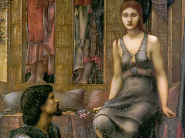 King and Beggar Maid (detail), Edward Burne-Jones, King Cophetua and the Beggar Maid, oil on canvas, 1884, 293.4 x 135.9 cm (Tate Britain, London)