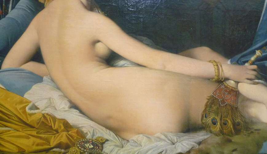 Torso (detail), Jean-Auguste-Dominique Ingres, La Grande Odalisque, 1814, Oil on canvas, 91 x 162 cm (Musée du Louvre, Paris