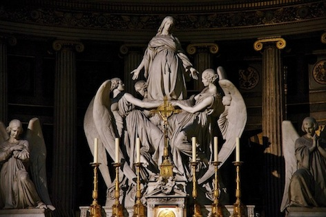 Carlo Marochetti, Mary Magdalene Exalted by Angels, 1841, 449 cm, marble, Church of La Madeleine (Paris)