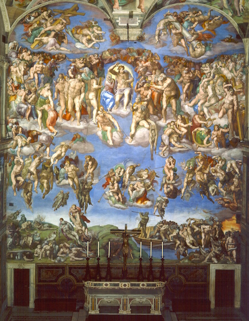 last judgment essay by dr esperanca camara article khan academy michelangelo last judgment sistine chapel altar wall fresco 1534 1541 vatican city rome