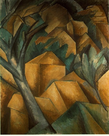 Georges Braque, Houses at l'Estaque, 1908, oil on canvas, 73 x 60 cm. (Kunstmuseum Bern, Bern, Switzerland)