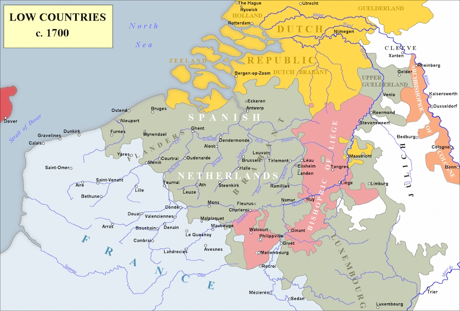 Map of Northern Europe, c. 1700