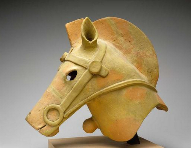 Haniwa Horse, c. 300–645, red earthenware, 14 7/8 inches (The Museum of Fine Arts, Houston)
